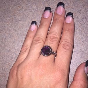 Purple Amethyst ring size 9